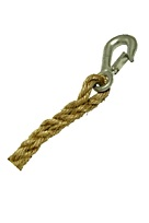 3/4 inch x 100 ft. Manila Rope w/  Forged Steel Snap Hook