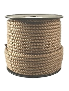 1 inch x 600 ft. TAN Color Poly Rope, 3-Strand
