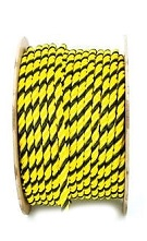 2 inch x 600 ft. Yellow/Black Polypropylene Rope