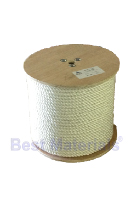 1 inch x 1200 ft. White 3-Strand Twisted Nylon Rope