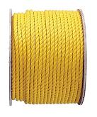 1 inch x 1200 ft. Yellow Polypropylene Rope, 3-Strand