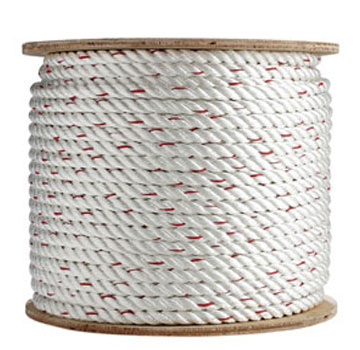 3/8 inch x 600 ft. 3-Strand Twisted Polyester-Dacron Rope - 3/8 inch x 600 foot 3-Strand Twisted Poly-Dacron Rope, 2,881 lb. Break Strength. High density polyester fiber wrapped over a polyolefin yarn core. Price/Spool. (aka PDTW120600; special order, min order 2 spools)