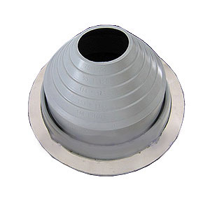 #8 Round Base EPDM Pipe Flashing, SPECIFY COLOR - #8 Round Base Pipe Flashing, EPDM Boot, Special Color. 16-1/4 Inch Diameter Base X 6 inches High. 6 inch diameter Open Top. Fits 7 to 13 inch Pipes. Price/Each. (specify COLOR Before adding to cart; shipping leadtime 1-3 business days)