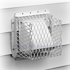 Dryer / Bathroom Vent Guard, 7x7x5 ID, Stainless Steel, White - HY-C Company #RVG-DVG7 Dryer / Bathroom Vent Guard / Animal Control Screen. White Powder Coated 16 Gauge Stainless Steel, Predrilled Mounting Holes on Flange. Inside Size: 7 x 7 inch base x 5 inches high. Made in USA. Price/Each.