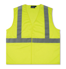 Safety Vest, Reflective ANSI Class 2, Lime (case/10)