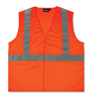 Safety Vest, Reflective, ANSI Class 2, Orange (case/10)