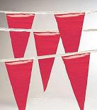 Pennant Flags, OSHA Safety Flagging, RED, 100 ft. (1)