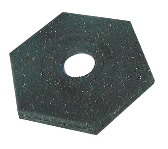 Safety Stand Base Weight, 18 Lb. - 18 Lb. Hexagonal Safety Stand Base / Weight. Fits 4 in. Diameter Safety Stand (delineator) Posts.  Price/Each.
