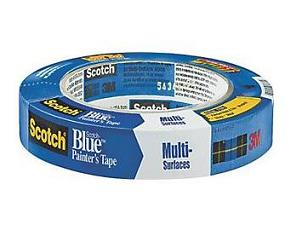 3M Scotch 2090 Safe-Release Blue Painters Masking Tape, 1-in. x 60 yd Roll - 3M Brand Scotch 2090 Safe-Release Painters Blue Masking Tape, 1-inch x 60 yard roll (25.4 mm x 54.8m). Price/Roll. (36 rolls/case; order full cases for added discounts)