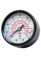 Senco 0-160 PSI Air Pressure Gauge 1/4 in. MPT