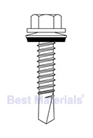 #12 X 1 inch HWH TEK Screw w/ NEO Washer (3000)