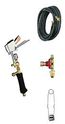 Propane Soldering Iron Kit, 10 oz. Diagonal Bit, 10 ft. Hose, Reg.