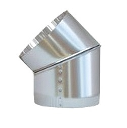 13 inch Skylight Angle Elbow - 13 inch Tubular Skylight Angle Elbow / Adaptor. Adjusts from 0 - 45 degrees. Fits 13 inch Natural Light tubular skylights. With TEK screws and foil tape. Price/Each. (Shipping UPS only)