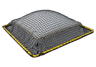 LES Raptor COLLAPSIBLE Skynet, 6X12 - LES Raptor COLLAPSIBLE SKYNET, 6x12. Skylight safety Net System. Collapable design folds in half for easy storage and setup. Fits up to 4x8 foot skylights. Price/Each. (shipping leadtime 1-3 business days)