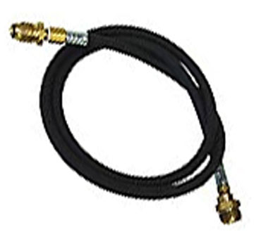 Propane Hook-Up, 10 ft. Hose, POL to 1lb Disposable - Refillable Propane Cylinder Hook-Up. 10 foot hose with POL which connects refillable 5G Cylinders to common items using 1-LB disposable Cylinders. Price/Kit.