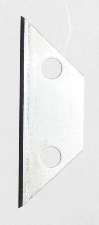 Membrane Slitter Utility Blades (10) - Membrane Slitting Blades. Replacement Carbon Steel Utility Blades (Elongated Trapezoid Shape with Holes). Fits 1032 slitters and many other utility knifes.