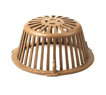 11-3/4 in. Smith 1010CID Replacement Cast Iron Drain Dome - 11-3/4 inch OD x 5-1/4 High Smith Replacment Cast Iron Drain Dome. Fits Smith 1010 and 1080 Series Drains. Price/Each.