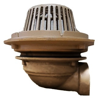 Smith 1020 16 Inch Low Profile Roof Drain Cast Iron Dome Specify Outlet