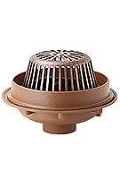 Smith 1080 15 in Dam Type Roof Drain, KIT, Cast Iron Dome, SPECIFY OUTLET