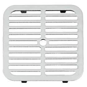 Smith 9-3/4 Sq Full Slotted Drain Grate, ARC Cast Iron - Smith #3420G Square Full Slotted Drain ARC Cast Iron Grate. Fits 3240 Floor Sinks. 9-3/4 inch Square Drain Grate, 1/2 X 4-3/8 Drain Slots, 7/16 inch Rim Thickess, 26 sq.in grate open area. Price/Each. (shipping leadtime 1-3 business days)