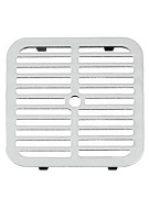 Smith 9-3/4 Sq Full Slotted Drain Grate, ARC Cast Iron