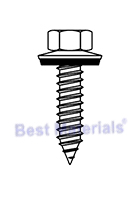 #17 x 1 HWH Screw, Bond Seal Washer, AB thread, Sharp, Galv.(250)