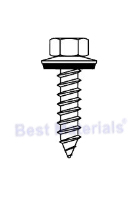 #14 X 1-1/4 HWH Tapping Screw, SS w/ NEO (250)