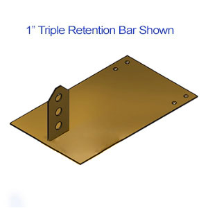 Brass Snow Barricade Deck Mount Bracket Base Plate For