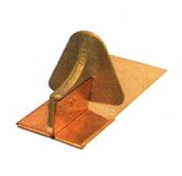 Berger 200 Cast Bronze Snow Guard for Soldering - Berger / Mullane #200 Cast Bronze Head Snow Guard with Copper Base for Soldering. Price/Each. (Min. order 3, UPS shipping only; special order 3-14 day leadtime)