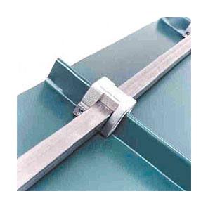 "Snow Rail Clamp-On S-Rail Bracket, Aluminum Mill Finish - Berger S-Rail Snow Rail Bracket. Clamp On Single Rail Low Profile Snow Rail Bracket, Mill Finish Cast Aluminum. Fits Structural and Architectural Metal Roofs Systems. Uses 1"" Square Tubing (not supplied). Price/Each. (Min. order 2, UPS shipping only)"