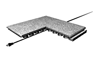 Economy Interlocking Rubber Paver / Roof Walkway Pad 24x24x2 in