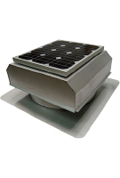 Solar Attic Fan, Flat Base, 25W w/Therm, Galv