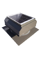 Solar Attic Fan, Flat Base, 20W w/therm, Painted