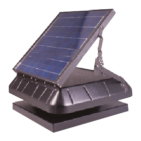 Solar Powered Attic Fan Curb Base W Tilt 30w Solar Panel