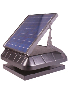 Solar Powered Attic Fan, Curb Base w/tilt 30W Solar Panel, Thermostat