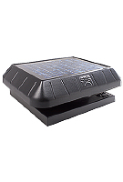 Solar Powered Attic Fan, Curb Base, 30W Solar Panel,  w/Thermostat