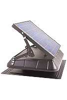 Solar Powered Attic Fan, Flat Base w/Tilt 30W Solar Panel, Thermostat
