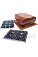 Solar Attic Fan, Flat Self-Flashing Base, 40W Panel, SELECT COLOR