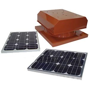 Solar Attic Fan Curb Base 40w Panel Select Color