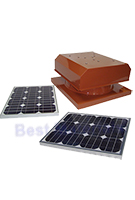 Solar Attic Fan, Curb Base, 40W Panel, SELECT COLOR
