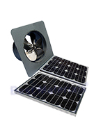Solar Attic Fan, Gable Mount, 40W Panel, Natural Zincalume Finish