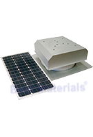 Solar Attic Fan, Flat Self-Flashing Base, 60W Panel, Zincalume Finish