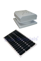 Solar Attic Fan, Flat Self-Flashing Base, 60W Panel, SELECT COLOR