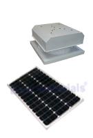 Solar Attic Fan Curb Base 40w Panel Natural Zincalume