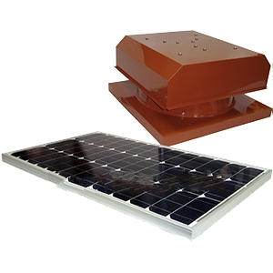 Solar Attic Fan, Curb Base, 60W Panel, SELECT COLOR - Attic Breeze AB604 Grande, Commercial Size Solar Powered Ventilation Kit. 24x24 inch Curb-mount Style Base, 2050 CFM 60-Watt Solar Panel, Stainless Steel Hardware. Powder Coated. 25-Year Mfg. Warranty. Price/Kit. (specify COLOR before adding to cart)