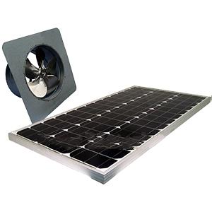 Solar Attic Fan Gable Mount 60w Panel Natural Zincalume