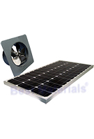 Solar Attic Fan, Gable Mount, 60W Panel, Natural Zincalume Finish