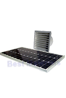 Solar Attic Fan, Wall Mount, 60W Panel, Natural Zincalume Finish