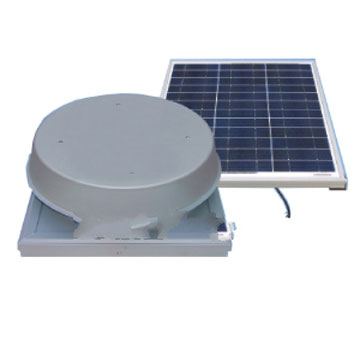Solar Powered Attic Fan, Curb Base, 50W 1900 CFM - Curb Mount Solar Powered Self Contained Attic Ventilator Fan Kit, Includes Remote Solar Panel 50 Watt, Capacity 1900 CFM (3100 square foot area). Price/Kit. (Shipping UPS Only)