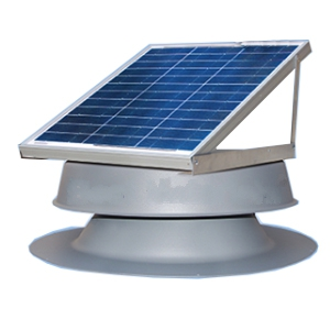 Solar Powered Attic Fan, Flat Base, 10W, 850 CFM - Solar Powered Self Contained Attic Ventilator Fan Kit. Includes Adjustable Solar Panel 10 Watt, Capacity 850 CFM (1200 sf). Price/Kit. (Shipping UPS Only)